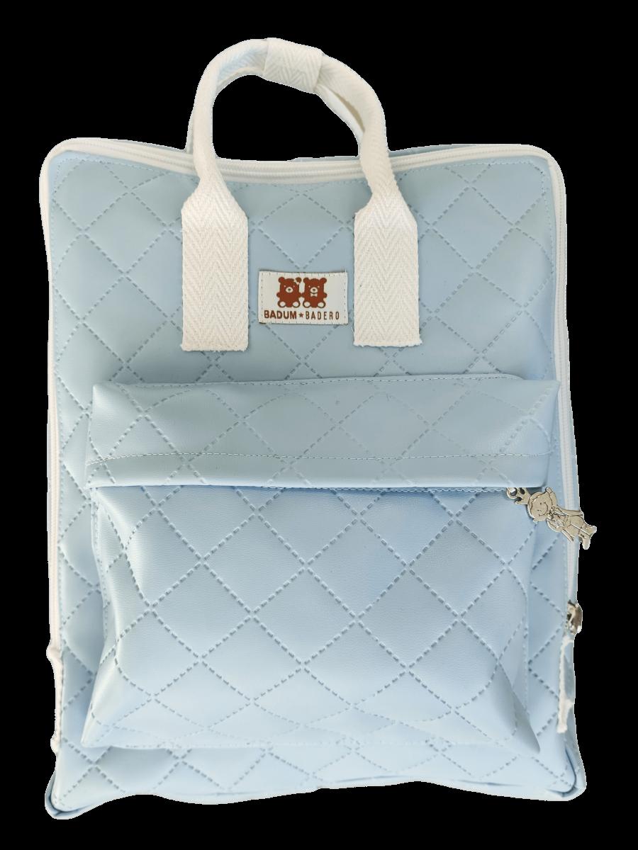 Mochila similpiel azul