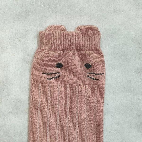 Medias gato rosa